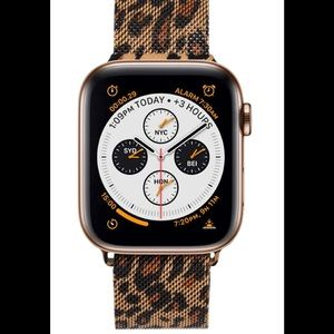 Apple Watch band leopard Milanese stainless 🆕